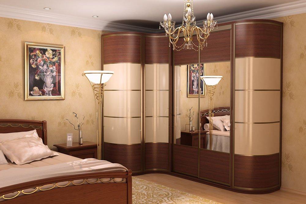 Угловые шкафы-купе в спальню дизайн