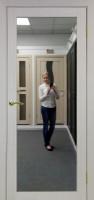 Межкомнатная дверь с зеркалом Парма 401.1 Беленый дуб