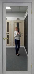 Межкомнатная дверь с зеркалом Парма 401.1 Дуб серый