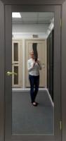 Межкомнатная дверь с зеркалом Парма 401.1 Венге