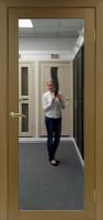 Межкомнатная дверь с зеркалом Парма 401.1 Орех