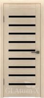 Дверь ГринЛайн Х-3 Капучино Черное стекло