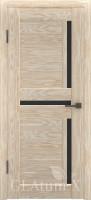 Дверь ГринЛайн Х-16 Капучино Черное стекло