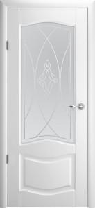 Дверь Лувр ДО Белый винил