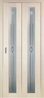 Дверь-книжка Парма 401 Геометрия Белёный дуб
