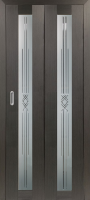 Дверь-книжка Парма 401 Геометрия Венге