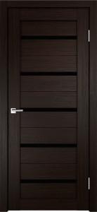 Дверь Стиль-1 Венге Чёрное стекло