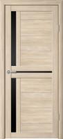 Дверь Стиль-5 Капучино Чёрное стекло